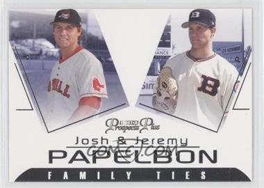 2006 TRISTAR Prospects Plus Family Ties #FT-3 - Josh Papelbon, Jeremy Papelbon