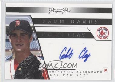 2006 TRISTAR Prospects Plus Farm Hands Authentic Autograph [Autographed] #FH 12 - Caleb Clay