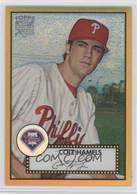 2006 Topps '52 Chrome Rookie Cards Gold Refractor #TCRC57 - Cole Hamels /52