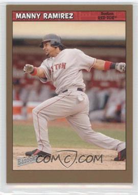 2006 Topps Bazooka - [Base] - Gold Chunks #6 - Manny Ramirez