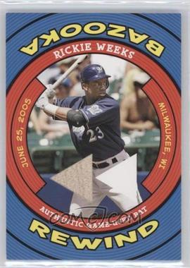 2006 Topps Bazooka - Rewind #BR-RW - Rickie Weeks