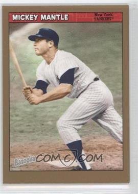 2006 Topps Bazooka Gold Chunks #15 - Mickey Mantle