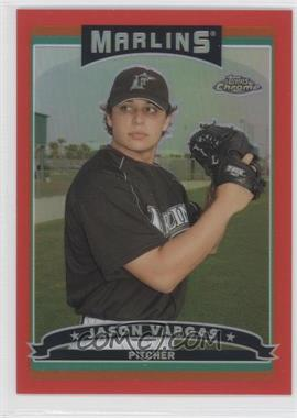 2006 Topps Chrome Red Refractor #203 - Jason Vargas /90