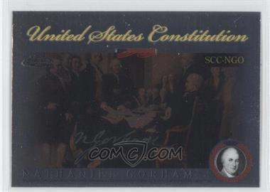2006 Topps Chrome Signers of the United States Constitution #SCC-NGO - Nate Gold