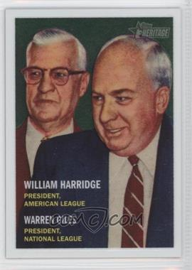 2006 Topps Heritage Chrome #5 - William Harridge, Warren Giles /1957