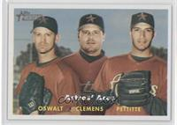 Roy Oswalt, Roger Clemens, Andy Pettitte