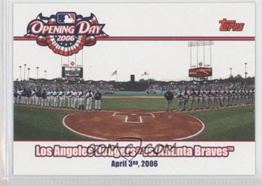 2006 Topps Opening Day [???] #OD-DB - Atlanta Braves Vs. Los Angeles Dodgers
