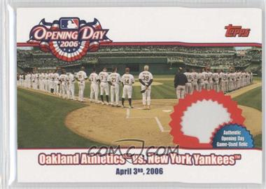 2006 Topps Opening Day 2006 Relics [Memorabilia] #ODR-AY - Oakland Athletics vs. New York Yankees