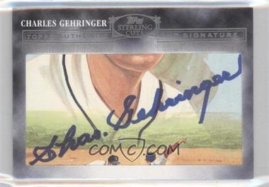 2006 Topps Sterling - Cuts Authentic Cut Signature #CUT-79 - Charles Gehringer