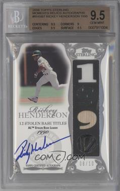 2006 Topps Sterling [???] #TG-N/A - Rickey Henderson [BGS 9.5]