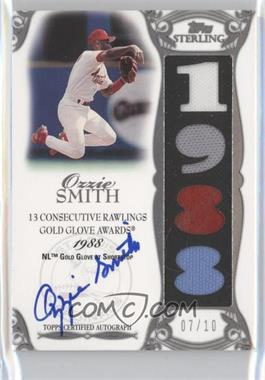 2006 Topps Sterling Moments Relics Autographs #OS-GG9 - Ozzie Smith 1988 Gold Glove /10
