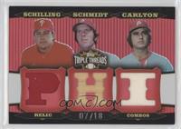 Curt Schilling, Mike Schmidt, Steve Carlton /18
