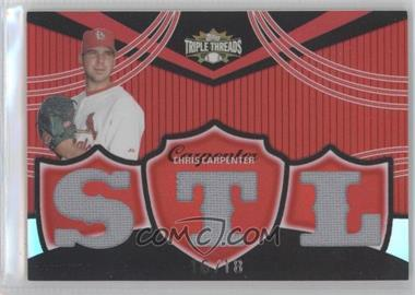 2006 Topps Triple Threads - Relics #TTR-63 - Chris Carpenter /18