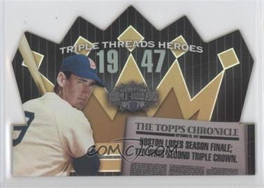 2006 Topps Triple Threads Heroes Die-Cut #TTH47TW5 - Ted Williams /50
