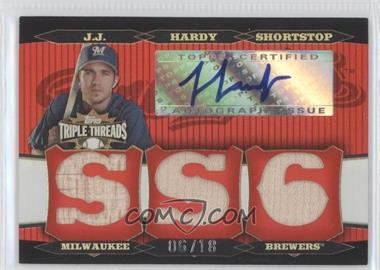 2006 Topps Triple Threads Relic Autographs #TTRA-47 - J.J. Hardy /18