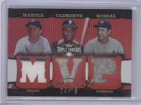 Mickey Mantle, Roberto Clemente, Stan Musial /18