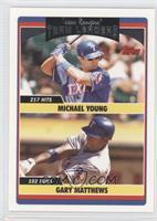 Michael Young, Gary Matthews, Gary Matthews Jr.