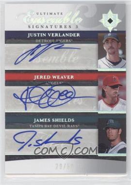 2006 Ultimate Collection - Ultimate Ensemble Signatures 3 #UES3-WSV - Justin Verlander, Jered Weaver, Jamie Shields, James Shields /50