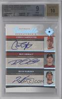 Chris Carpenter, Roy Oswalt, Rich Harden /50 [BGS 9]