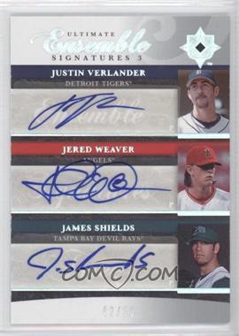 2006 Ultimate Collection Ultimate Ensemble Signatures 3 #UES3-WSV - Justin Verlander, Jered Weaver, Jamie Shields, James Shields /50