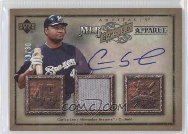 2006 Upper Deck Artifacts - [???] #MLB-LE - Carlos Lee /30