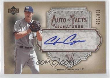 2006 Upper Deck Artifacts - Autofacts Signatures #AF-CA - Chris Capuano /800