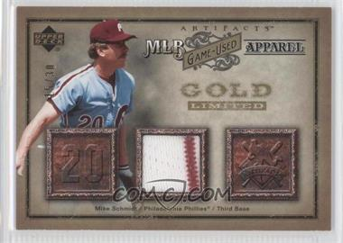 2006 Upper Deck Artifacts MLB Game-Used Apparel Gold #MLB-MS - Mike Schmidt