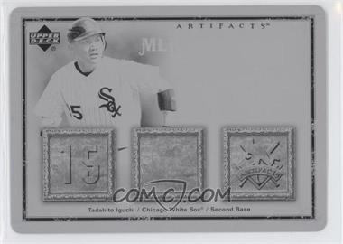 2006 Upper Deck Artifacts MLB Game-Used Apparel Printing Plate Black #MLB-TI - Tadahito Iguchi /1