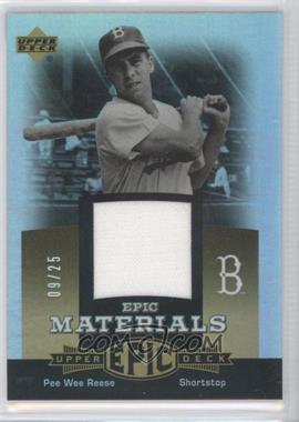 2006 Upper Deck Epic Materials Gold #EM-PR2 - Pee Wee Reese /25