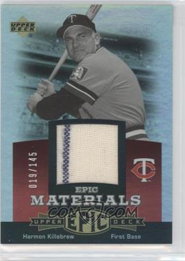 2006 Upper Deck Epic Materials Red #EM-HK - Harmon Killebrew /145