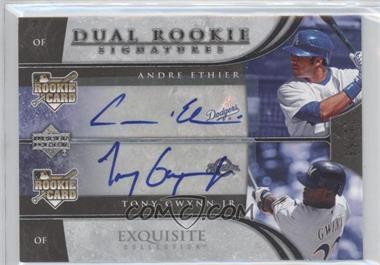 2006 Upper Deck Exquisite Collection - [Base] #62 - Tony Gwynn Jr., Andre Ethier /55
