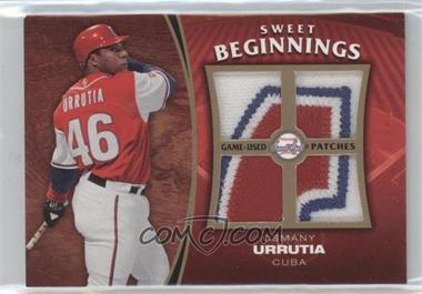 2006 Upper Deck Sweet Spot Update Sweet Beginnings Swatches Patches #SW-OU - Osmany Urrutia
