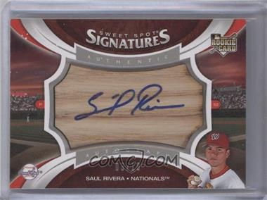 2006 Upper Deck Sweet Spot Update Sweet Spot Signatures Bat Barrel Blue Ink [Autographed] #153 - Saul Rivera /10