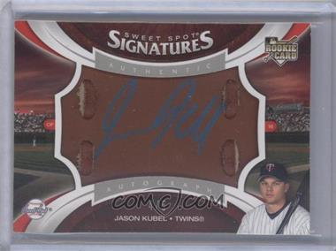 2006 Upper Deck Sweet Spot Update Sweet Spot Signatures Glove Leather Blue Ink [Autographed] #128 - Jason Kubel /5