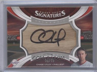 2006 Upper Deck Sweet Spot Update Sweet Spot Signatures Veteran Bat Barrel Black Ink #SS-CU - Chase Utley /35