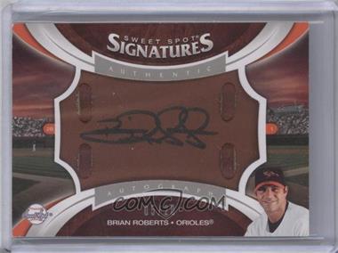 2006 Upper Deck Sweet Spot Update Sweet Spot Signatures Veteran Glove Leather Black Ink #SS-BR - Brian Roberts /20