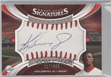 2006 Upper Deck Sweet Spot Update Sweet Spot Signatures Veteran Red Stitching Blue Ink #SS-KG2 - Ken Griffey Jr. /358