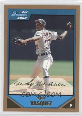 2007 Bowman - Prospects - Gold #BP105 - Sendy Vasquez
