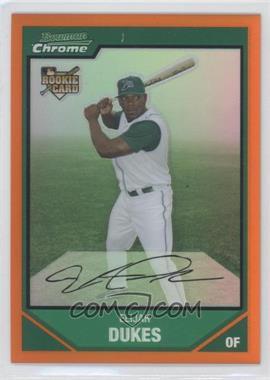 2007 Bowman Chrome - [Base] - Orange Refractor #199 - Elijah Dukes /25
