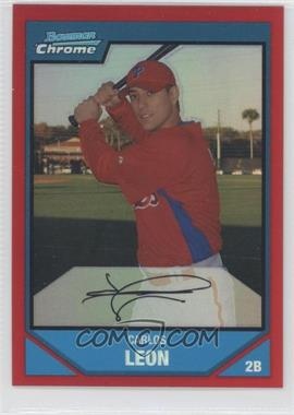 2007 Bowman Chrome - Prospects - Red Refractor #BC212 - Carlos Leon /5