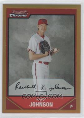 2007 Bowman Chrome Gold Refractor #72 - Randy Johnson /50