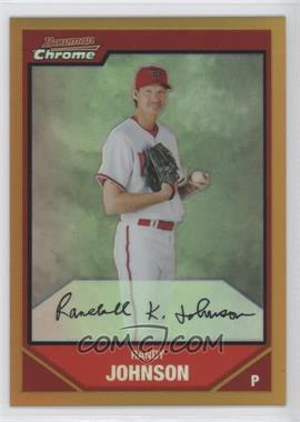 2007 Bowman Chrome Gold Refractor #72 - Randy Johnson /50
