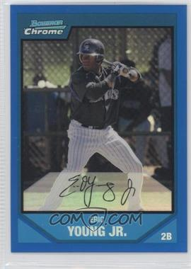 2007 Bowman Chrome Prospects Blue Refractor #BC120 - Eric Young /150