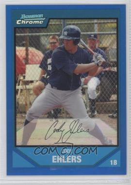 2007 Bowman Chrome Prospects Blue Refractor #BC158 - Cody Ehlers /150