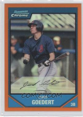 2007 Bowman Chrome Prospects Orange Refractor #BC147 - Jared Goedert /25