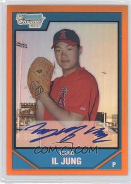 2007 Bowman Chrome Prospects Orange Refractor #BC246 - Young-Il Jung /25
