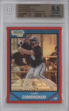 2007 Bowman Chrome Prospects Red Refractor #BC21 - Aaron Cunningham /5 [BGS 9.5]