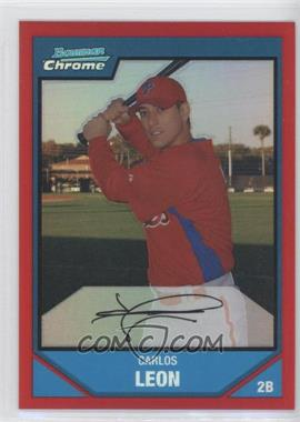 2007 Bowman Chrome Prospects Red Refractor #BC212 - Carlos Leon /5