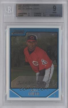 2007 Bowman Chrome Prospects #BC145 - Johnny Cueto [BGS 9]