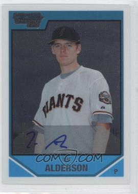 2007 Bowman Draft Picks & Prospects Chrome Draft Picks #BDPP113 - Tim Alderson